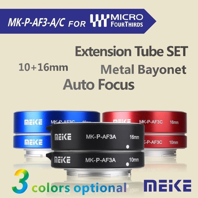 MK-P-AF-3A Meike Macro AF Auto Foco Anel tubo de Extensão para Olympus Panasonic micro DSLR