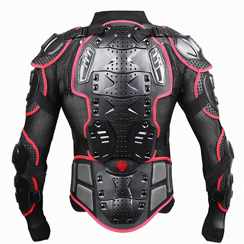 Noir/ROUGE Motos Armure Protection Motocross Vêtements Veste Protection Moto Cross Retour Armure Protecteur Moto Vestes - 5