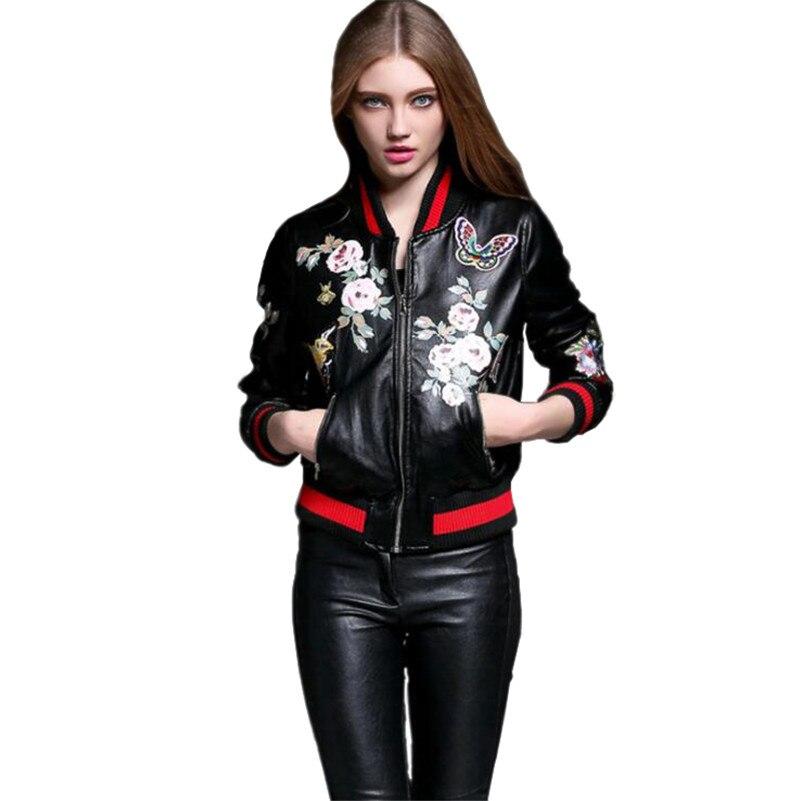 Online Get Cheap Womens Leather Baseball Jacket -Aliexpress.com ...