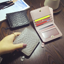 Hot Sale Crocodile Ladies Purse Cowhide Leather Wallets High Quality Genuine Leather Mini Wallet Women Luxury Brand Card Holder