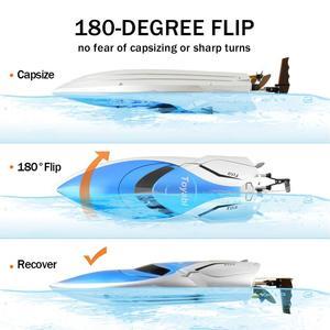 Image 5 - Ad Alta Velocità di 30Km/H Rc Barca 4CH 2.4 Ghz 4 Canali da Corsa da Corsa di Controllo Remoto Barca Barca da Pesca Giocattoli per I Bambini Hobby Regali