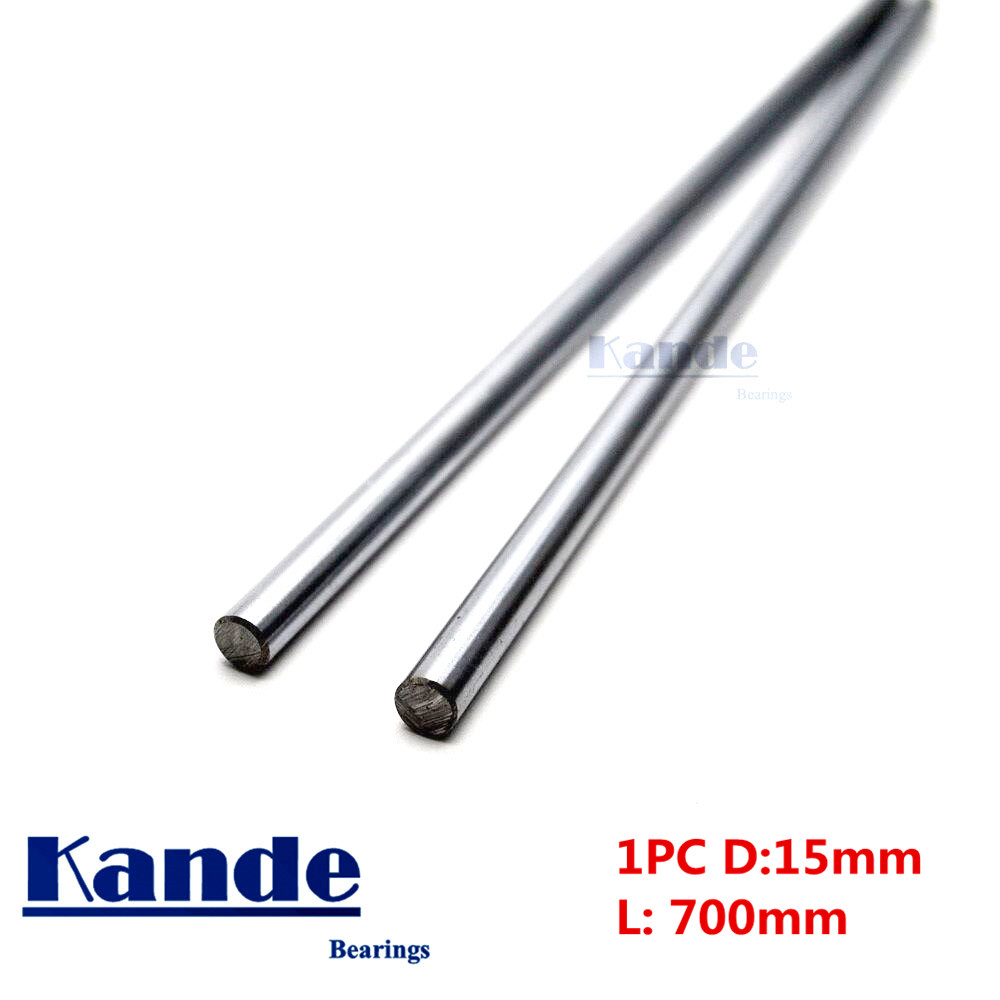 Kande Bearings 1pc d:15mm 650mm 700mm 750mm 800mm 3D printer rod shaft 15mm linear shaft chrome plated rod shaft CNC parts kande bearings 1pc d 16mm 3d printer rod shaft 16mm linear shaft 230mm chrome plated rod shaft cnc parts 100 700mm