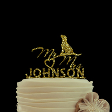 Gold Glitter cake topper Mr & Mrs Bride Supplies Personalized Topper Wedding Decoration Custom Cake Toppers Cake Birthday