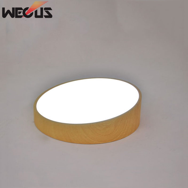 (WECUS) Beveled round lamp creative personality room round LED ceiling lamp simple study balcony porch lighting,25*25*10cm simple style ceiling light wooden porch lamp square ceiling lamp modern single head decorative lamp for balcony corridor study