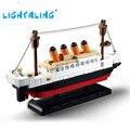 194 unids shipboat titanic modelo 3d diy bloques de construcción sluban lightaling figuras juguetes para niños juguete de regalo