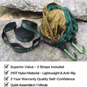Image 3 - Solid Color Parachute Hammock with Hammock straps and Aluminum carabiner Camping Survival travel Double Person outdoor furniture