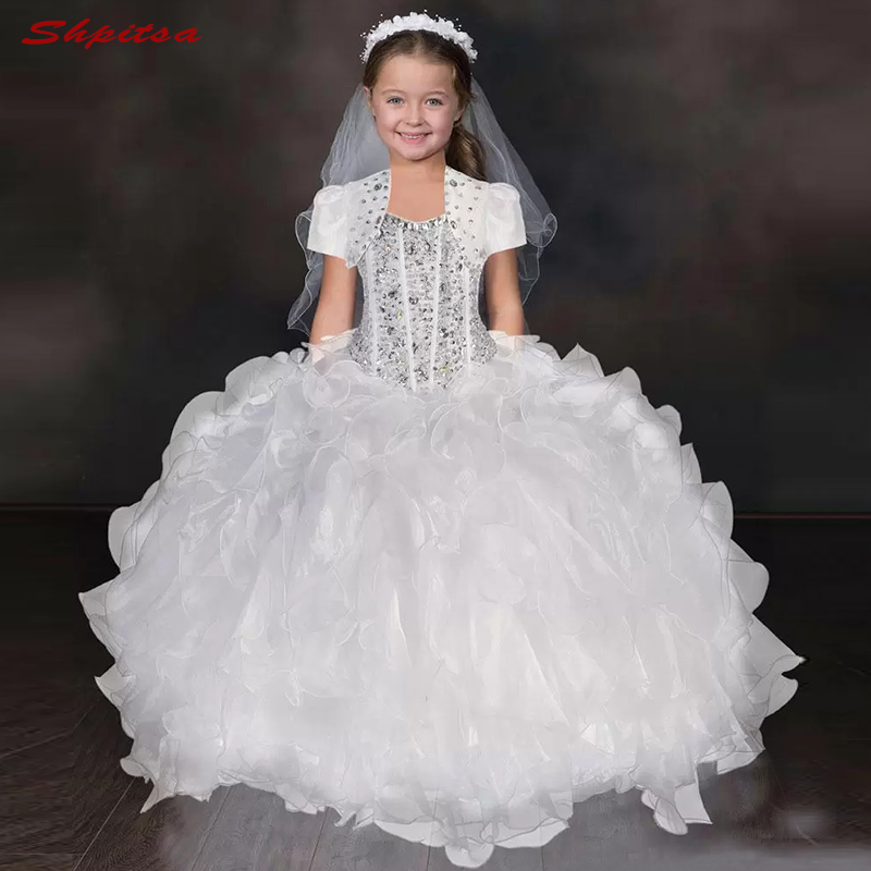 Coral   Flower     Girl     Dresses   for Weddings Flowergirl First Communion Pageant   Dresses   for Wedding Party   Girls