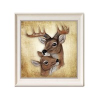 New Nordic Mother And Son Deer Pattern Full Diamond Painting Modern Simple Style Living Room Decorative