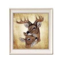 Diamond Painting Animals Deer Round Rhinestone Artwork Diamond Paint Modern Style Living Room Decorative Diamond Painting Full
