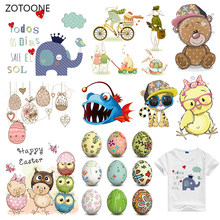 ZOTOONE Stripes Patches Iron on Transfer Cute Animal Dog Patches for T-shirts Girl Kid Clothing DIY Thermo Stickers on Clothes G(China)