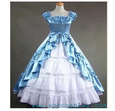Peut être personnalisé 2015 mode sans manches Renaissance gothique robe Lolita