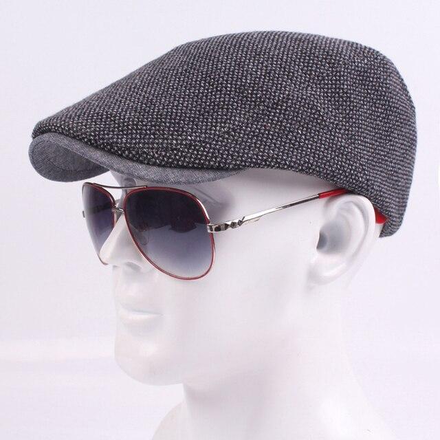 ef755573 Winter Male Cap Hats Vintage Fashion Newsboy Gatsby Golf Driving Flat  Cabbie Cap For Men Dad Boyfriend Warm Peaked Hats