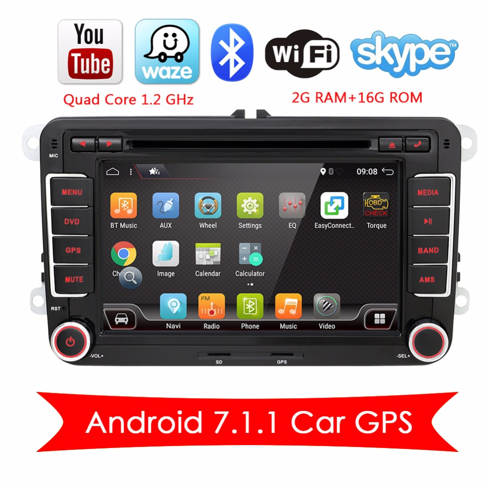 Bosion 2 DIN Android 7.1.1 Car Multimedia Decoder DVD Radio MP3 NAVI GPS Per Volkswagen VW T5 Golf Passat Touran polo EOS Caddy