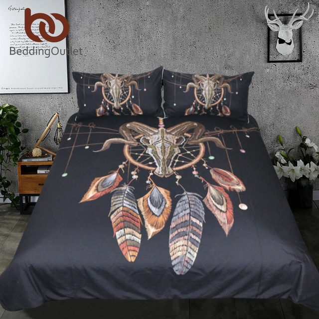 Exotic Indian Skull Bedding Set