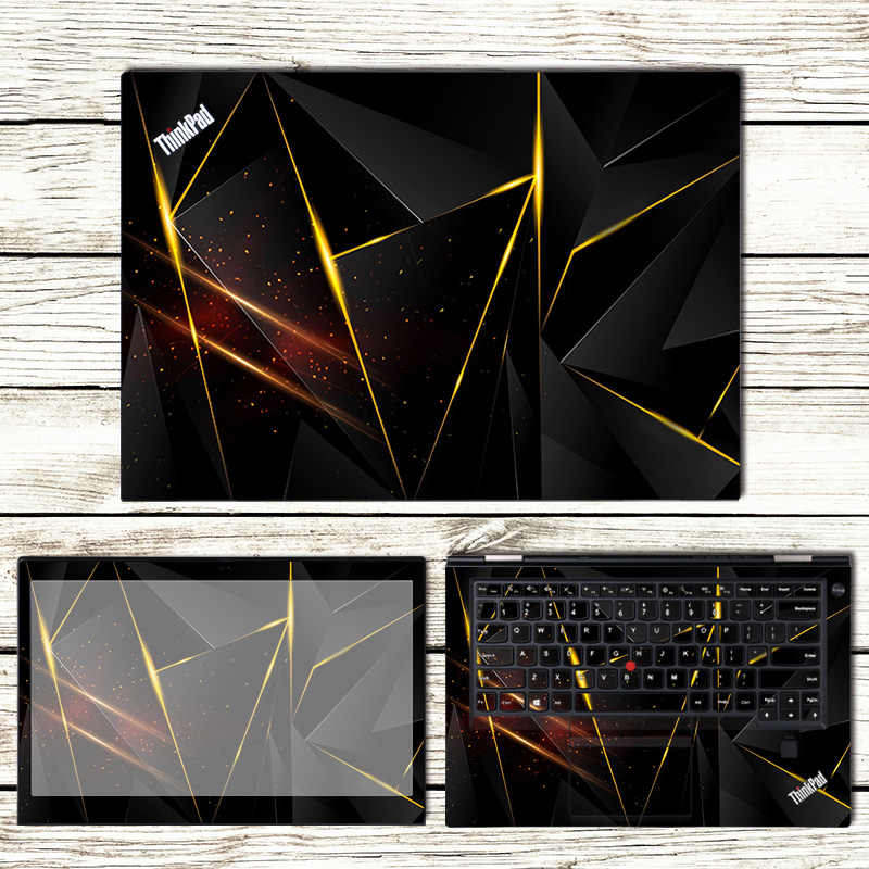704a65ef4efd 3 Sides Laptop Skin Notebook Stickers For Lenovo Thinkpad X280 T470P E580  T480 X1 Carbon Fashion Laptop Sticker Case Cover Shell