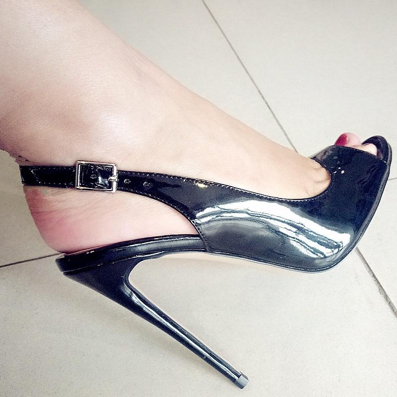 Onlymaker Women's Peep Toe 12cm Thin