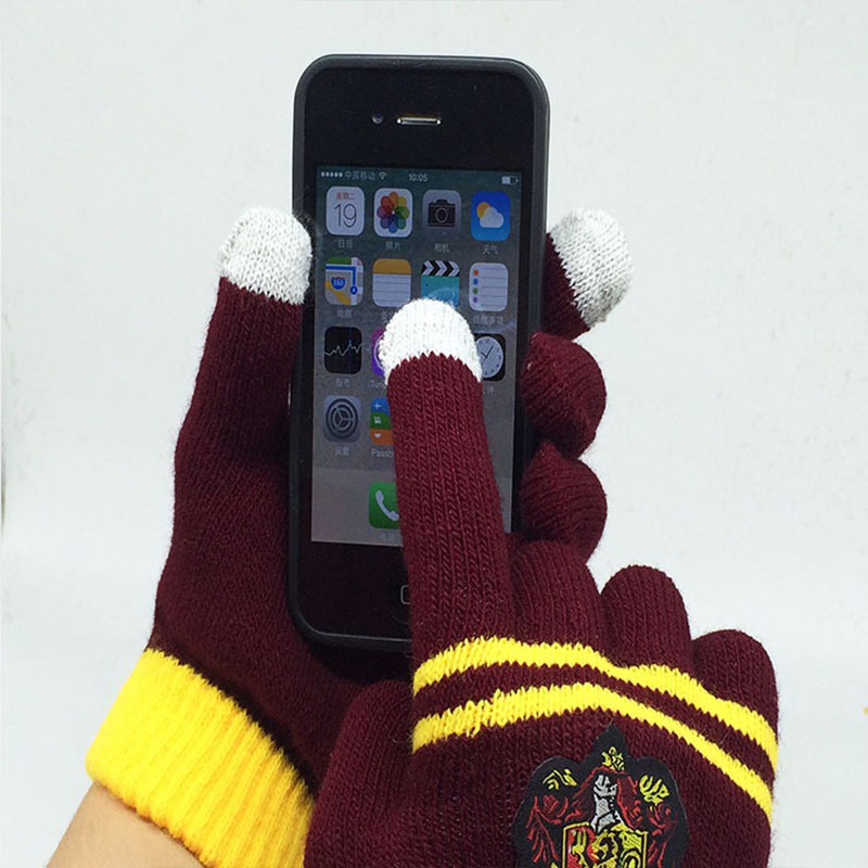 Cosplay Touch screen Gloves Gryffindor/Hufflepuff/Ravenclaw/Slytherin Gloves Child Collection Magic Toys Halloween Gift