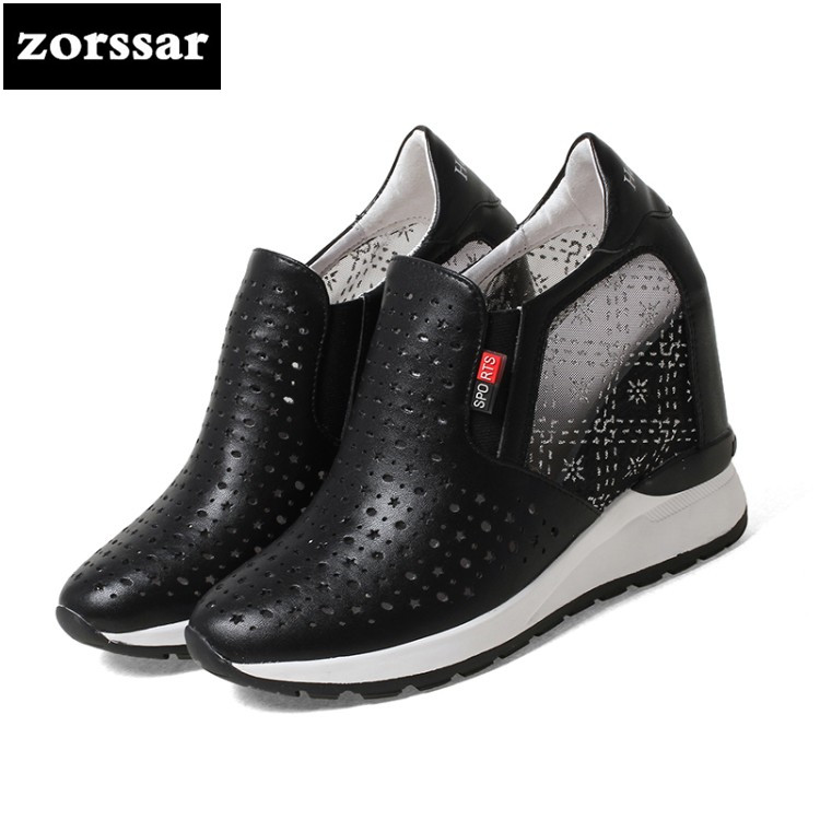 {Zorssar} Summer Women sneakers Shoes breathable 2018 New Womens Wedges Height Increasing Casual shoes Ladies Platform Shoes summer breathable hollow casual shoes women slip on platform flats shoes fashion revit height increasing women shoes h498 35