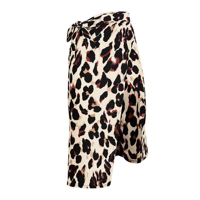 Fashion Women Sexy England Leopard Printed Split Bandage Evening Party Skirt 3