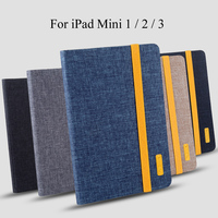 Silicon Cloth PU Leather Case For IPad Mini 1 Mini 2 Mini 3 Smart Sleep Case