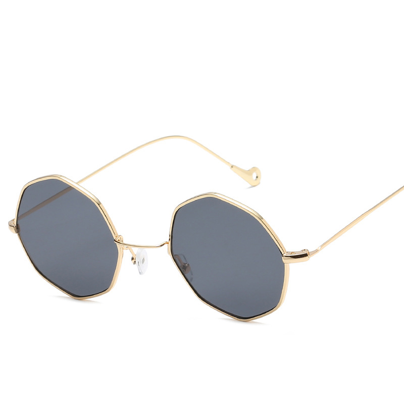 f2428217eae0 Fashion Sunglasses Women Brand Designer Small Frame Polygon Clear Lens Sunglasses  Men Vintage Sun Glasses Hexagon Metal Frame-in Sunglasses from Apparel ...