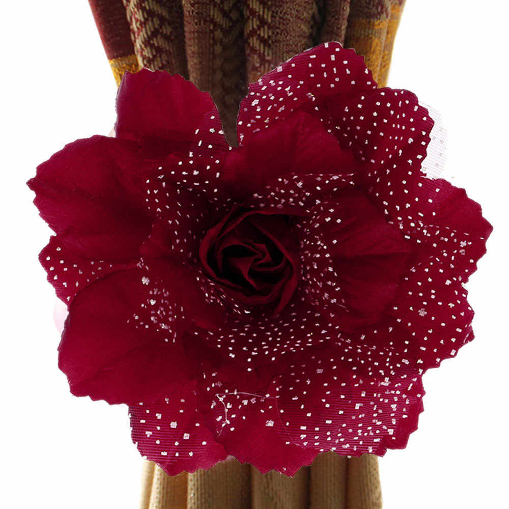 Flowers Curtain Tie Buckles Europe Style Curtain Holder Curtain Accessories Best Peony Flower Curtains Clip-on Tie Backs S#77
