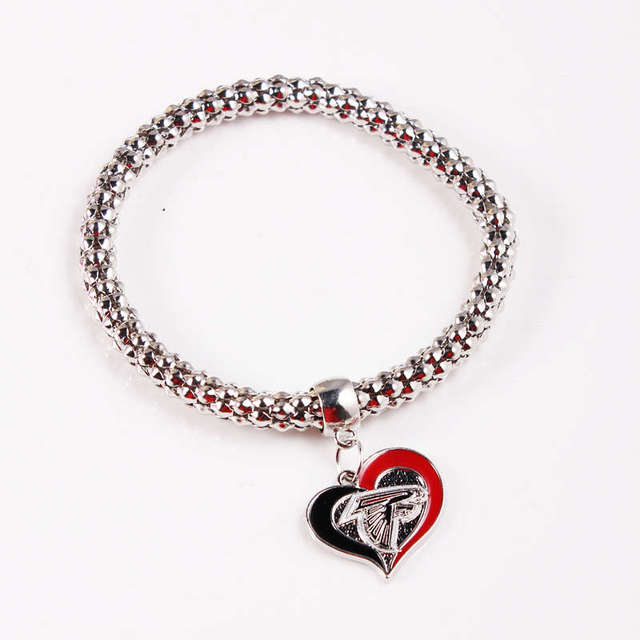 6pcs lot Popcorn Chain Bracelet Atlanta Falcons Jewelry for Fans Charm  bracelets Alloy Sports Bracelets Wholesale f65757c4a67e