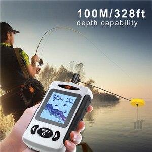 Image 4 - LUCKY Fish Finder 3 Language Russian English German Menu 100m Depth Portable Wired Fishfinder Sonar Sounder Alarm FF718