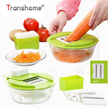 Multifunctional Vegetable Chopper Plastic Onion Slicer With 5 Blades Potato Carrot Grater Shredder Kitchen Accessories