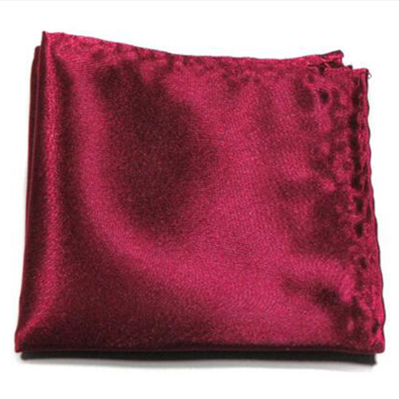 Hot Male Solid Color Satin Handkerchief Men Suit Pocket Square Towel Gentlemen Accessory Hanky Wedding Party Casual Handmade