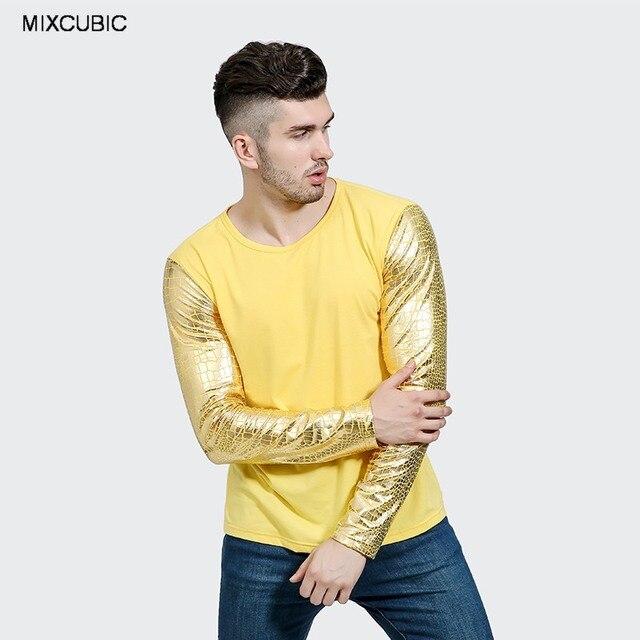 MIXCUBIC 2017 Herbst England stil Helle Python muster ärmeln t shirt ...