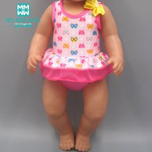 Doll clothes for 17inch 43cm-45cm new born doll accessories and American doll Bathing suit pajamas princess dress(China)