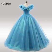 Azul quinceanera vestidos 2018 vestido de baile vestido de baile fora do ombro vestidos de 15 anos doce 16 vestido debutante