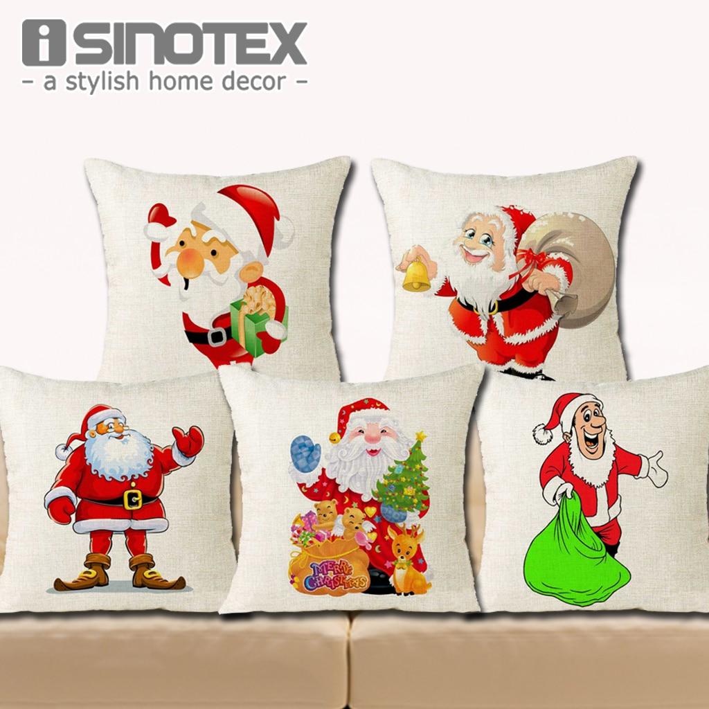 18 * 18 '' kussenhoes kerst Home Decor schattige kerstman linnen - Thuis textiel
