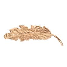 1 X Women Lady Fashion Metal Leaf Shape Hair Clip Barrettes Crystal Pearl Hairpin Barrette Hair Accessories