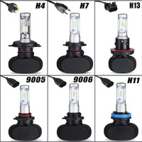 2Pcs 9005 HB3 9006 HB4 H11 H4 H7 Led H13 Auto Car Headlight S1 50W 8000LM