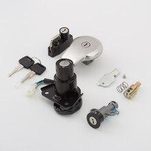 цена на For Yamaha VIRAGO XV125 XV250 XV240 Motorcycle Ignition Switch Helmet Steering Seat Lock Key Fuel Gas Cap Set