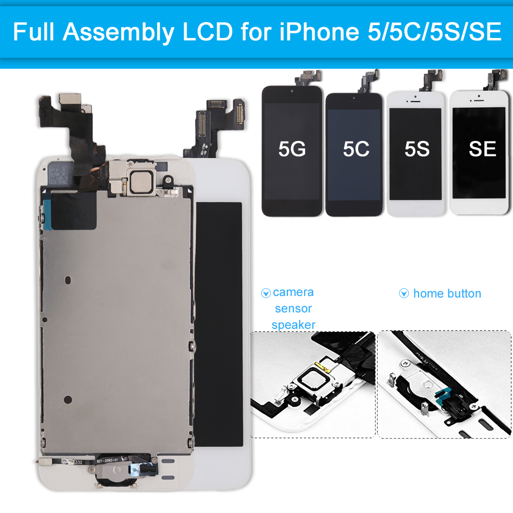 Lcd-Display Digitizer Screen-Replacement Touch-Screen Complete 5C IPhone Se Full-Assembly