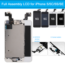 AAA Quality LCD Display for iPhone 5 5C 5S SE LCD Touch Screen Digitizer Full Assembly Screen Replacement Complete for iPhone SE free dhl ems 5pcs lots no dead pixels high quality lcd display and digitizer touch screen frame assembly for iphone 5 5c 5s se