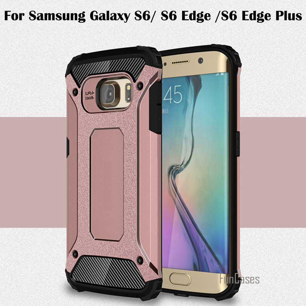 Case For Samsung Galaxy S6 S6edge S6 edge Plus Case Shockproof Armor TPU Silicone Hybrid Hard Plastic Cover Phone Case capinhas