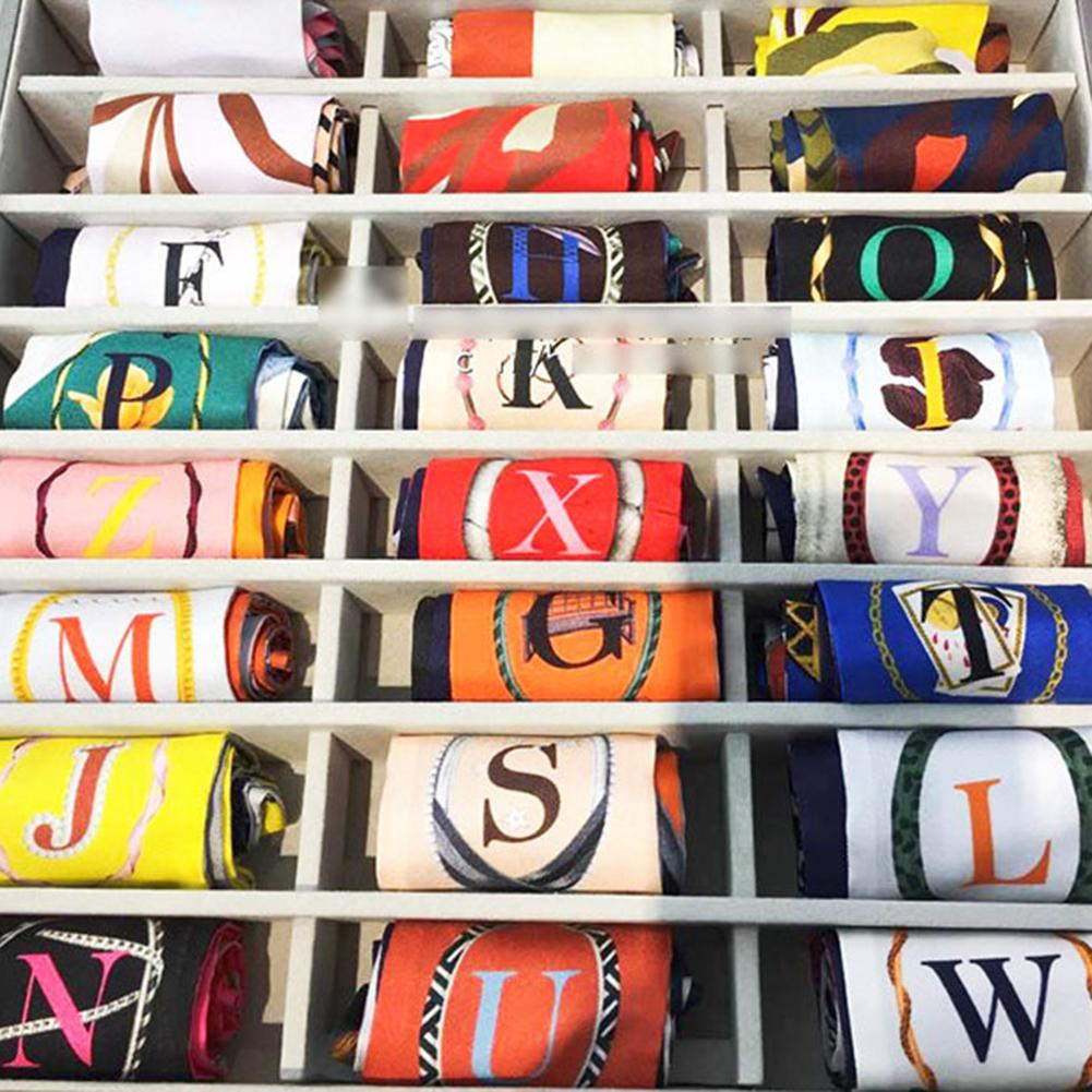 2018 Hot Early Autumn 26 Letters Tarot Multi-color Ladies Ribbons Tied for Handbags Small Narrow Long Head Scarf Skinny Scarves