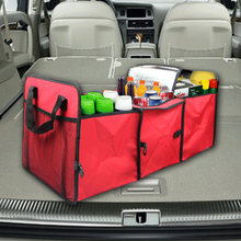 Auto Accessories Car Organizer Trunk Collapsible Toys Food Storage Truck Cargo Container Bags Box Black Car Stowing Tidying New(China)