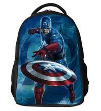 Superman Captain America Tasche HOT Held Kinder Schultaschen für Jungen Mode Schultasche für Jugendliche Avengers Mochila herren Ranzen