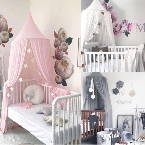 Au 아기 침대 캐노피 침대 커버 모기장 커튼 침구 돔 텐트 룸 장식