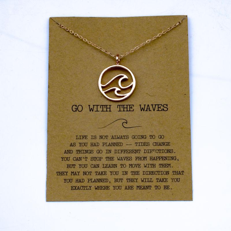 """SanLan 1 шт идут в комплекте ожерелье с подвеской """"волны"""" Океан ювелирные изделия - Окраска металла: 17"""