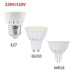 Super brilhante gu 10 gu10 conduziu a lâmpada mr16 gu5.3 conduziu a lâmpada spotlight 4 w 6 w 8 220 v 110 v 120 v 2835 v smd e27 lampada conduziu a luz da vela
