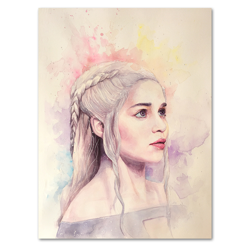 GAME OF THRONES POSTER Daenarys Mother of Dragons Wall Art Print Photo A3 A4