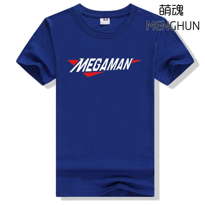 Cool retro game concept MEGAMAN t shirt men's cotton game fans t shirts various colors game megaman tee shirt ac657