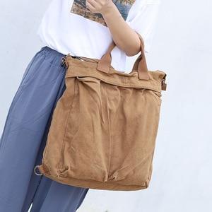Image 5 - High Quality Mens Backpack Vintage Canvas Shoulder Bag School Bag Men Women Travel Bags Large Capacity Laptop Backpack Bag