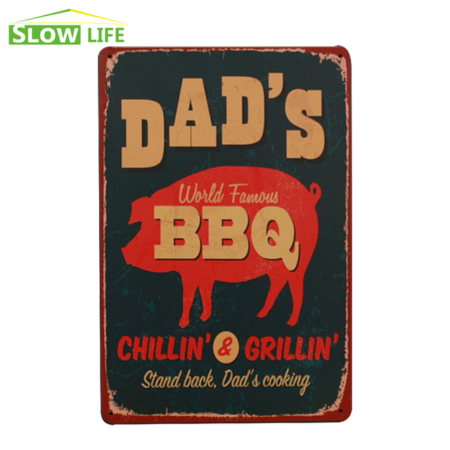 Dadu0027s BBQ Metal Tin Sign Hotel/Cafe /Bar Wall Decor Metal Sign Vintage Home